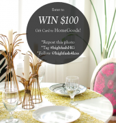 HomeGoods Giveaway on Instagram
