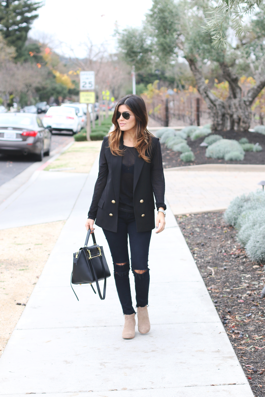 Black Zara Vest Jbrand Jeans2