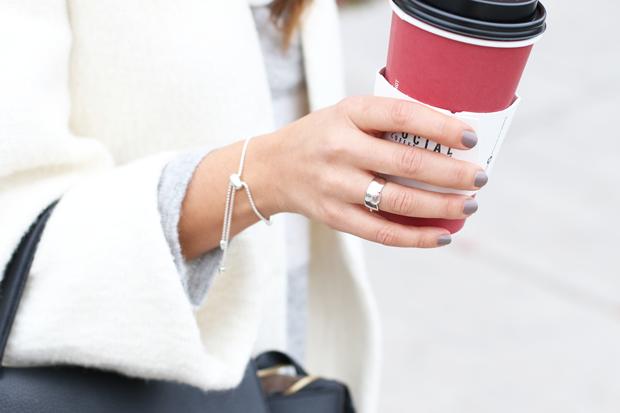 Monica Vinader Ring and Chain Bracelet