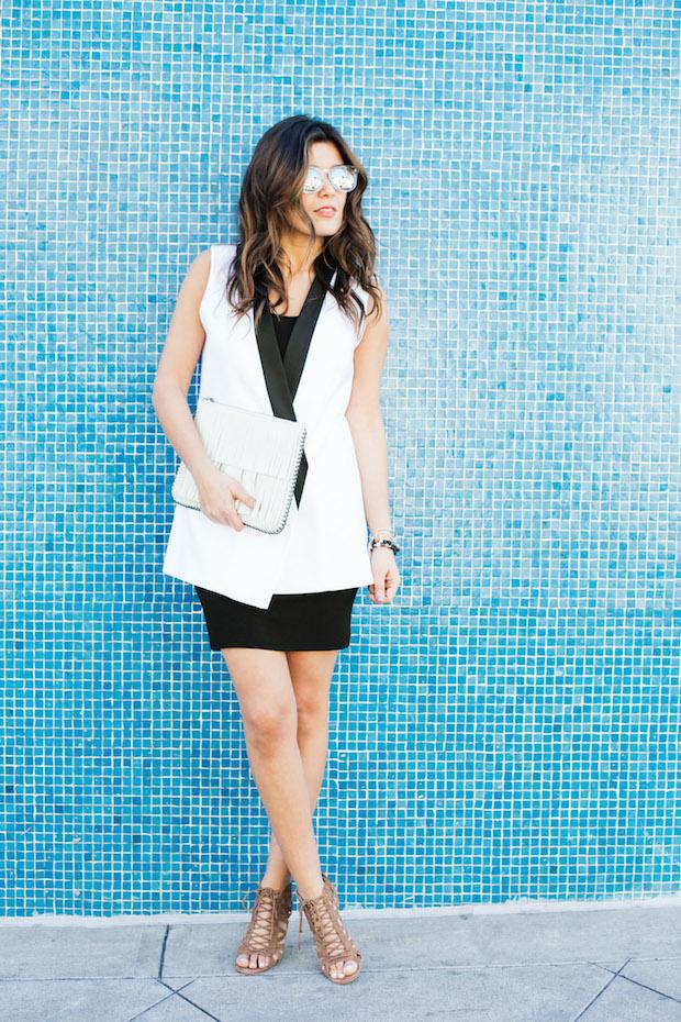 White blazer vest