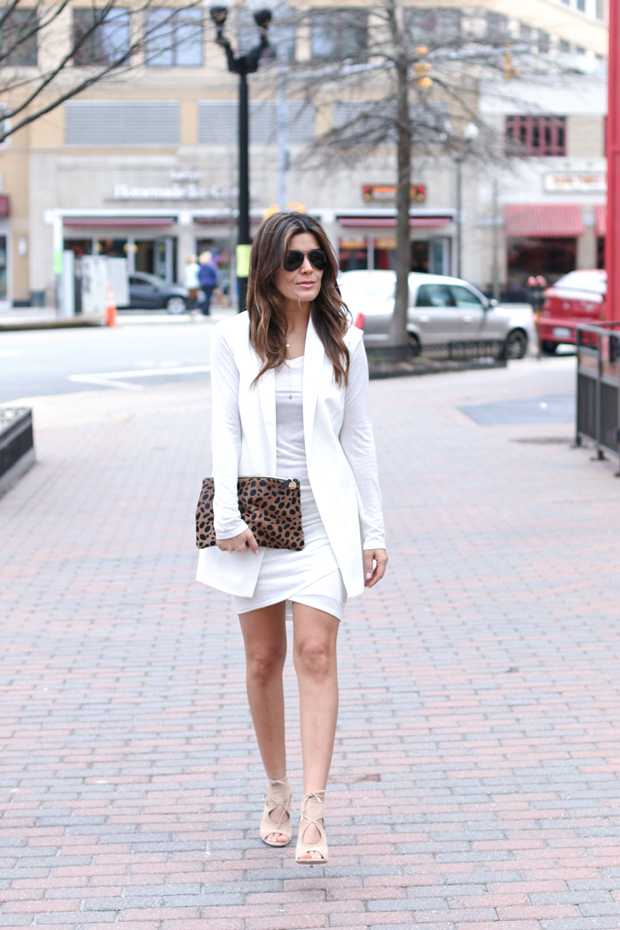 White vest and Bella Luxx Marble Dress