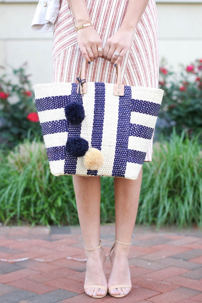 stripes on stripes tote