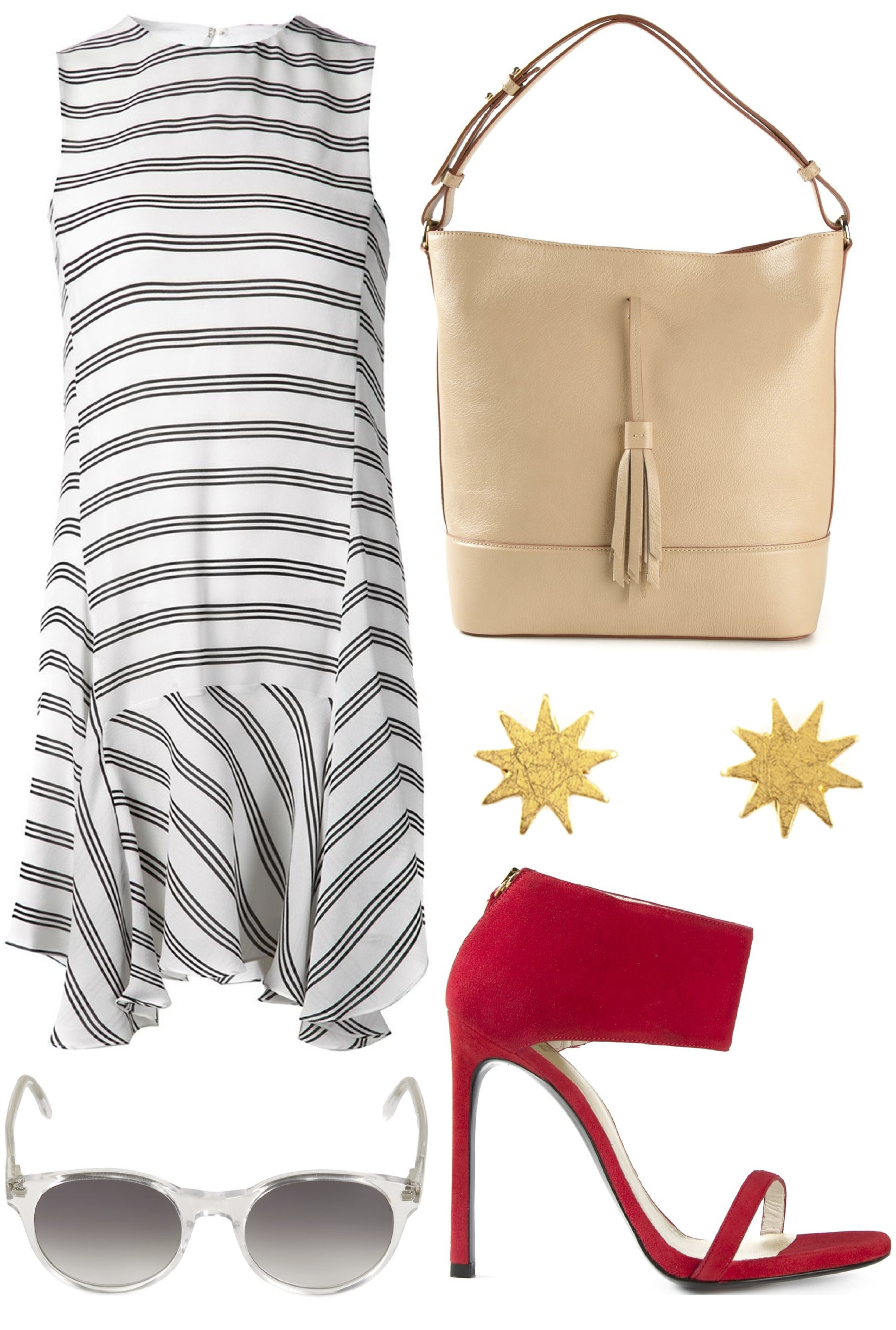 4th of july outfit ideas with striped dress