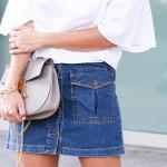 Button Down Denim Skirt