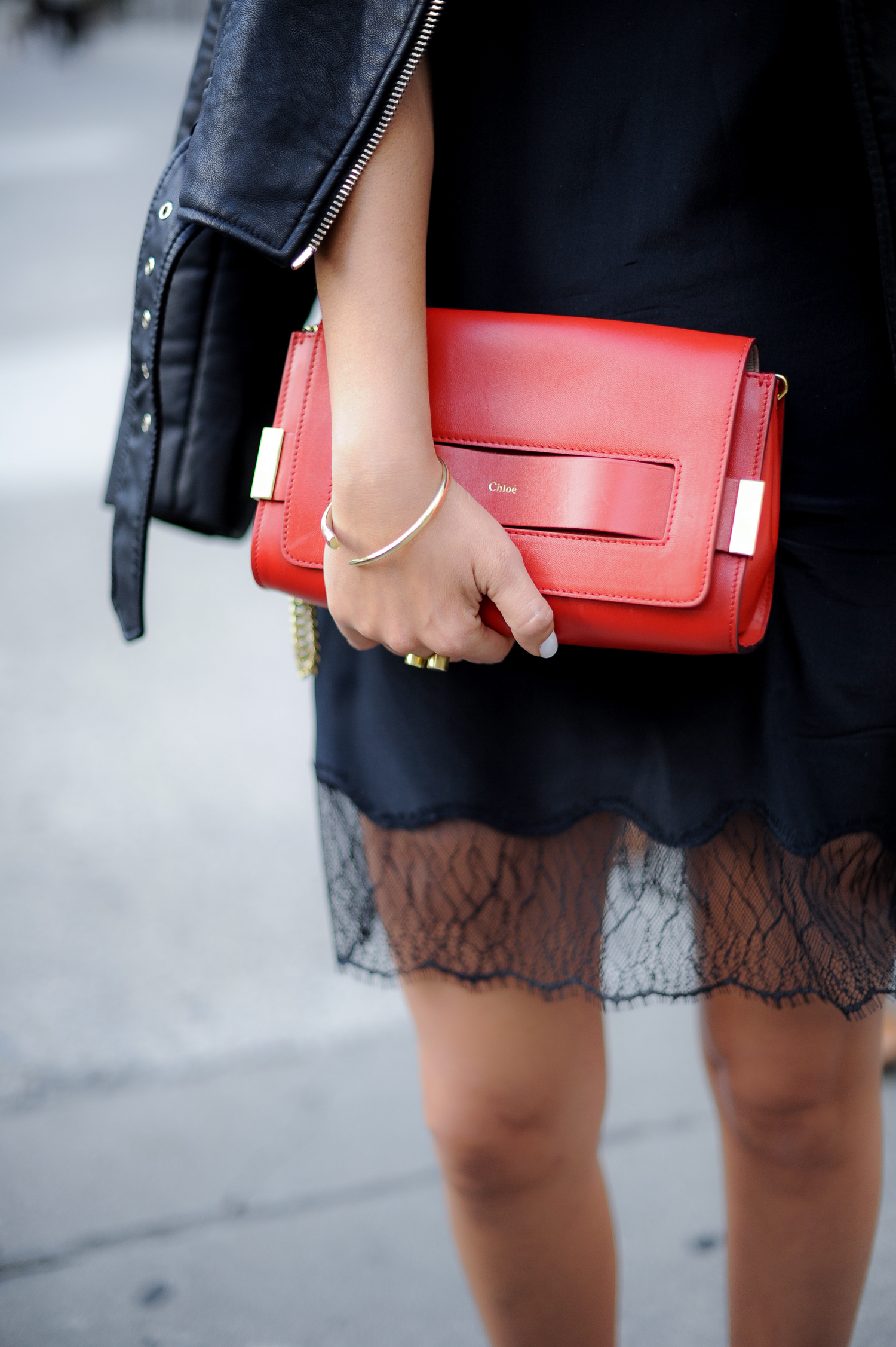 Red Chloe Elle Clutch