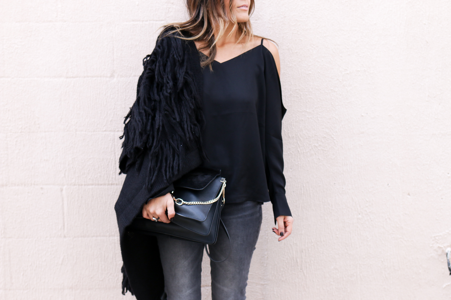 H&M Fringe Sweater