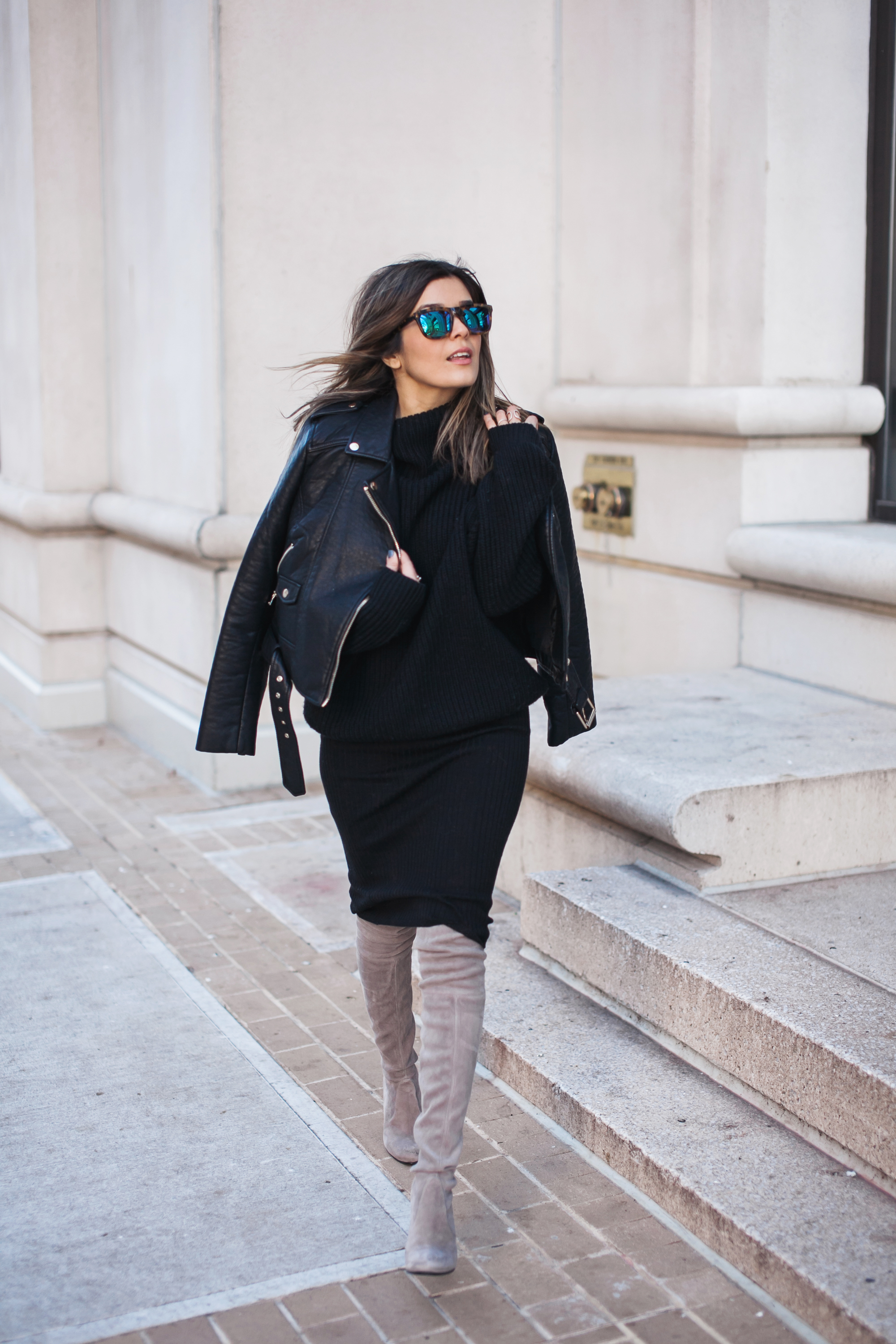 Leather Moto Look