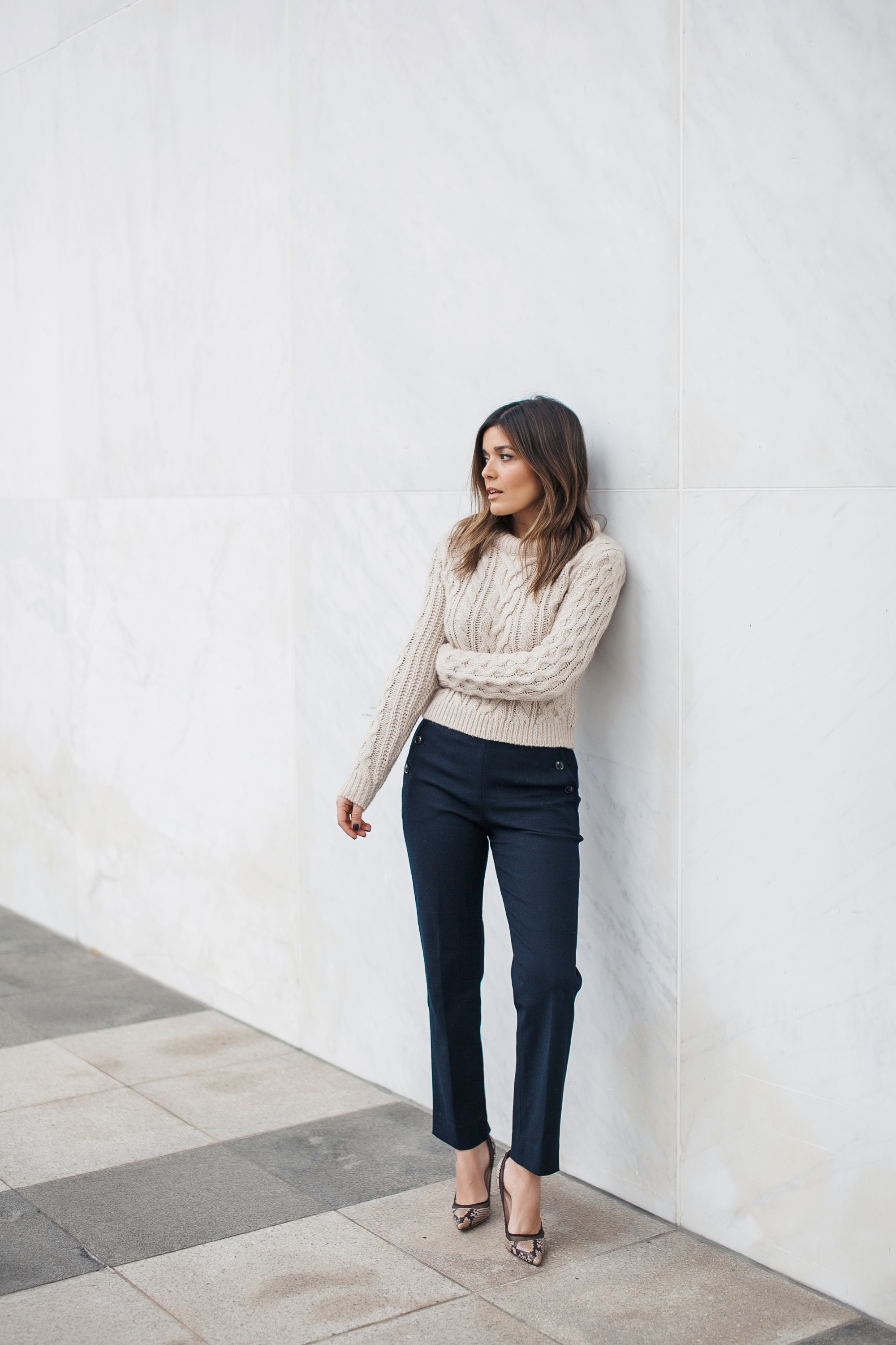 Club Monaco Cable Knit Sweater