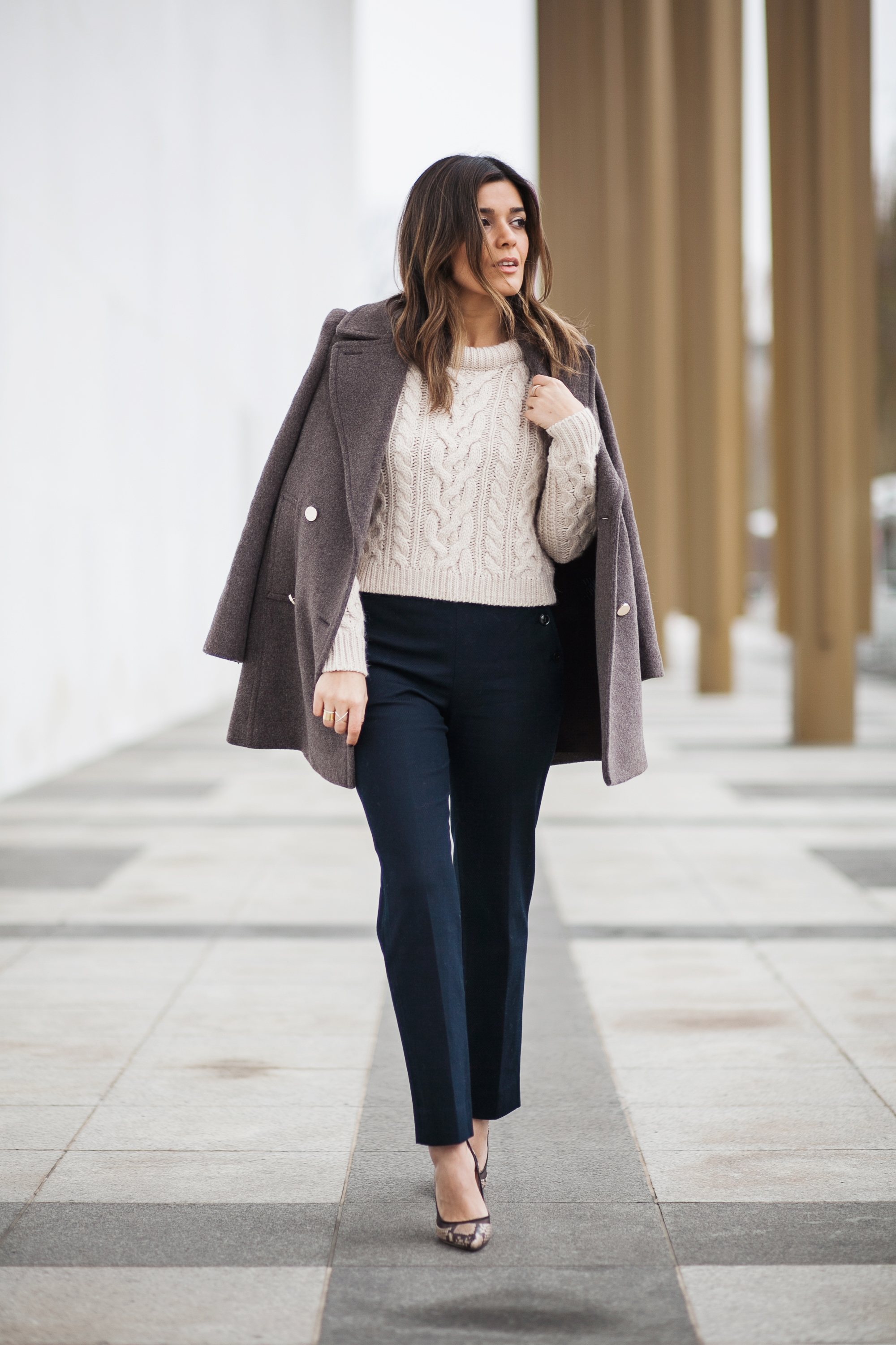 Club Monaco Coat, Pants, and Sweater