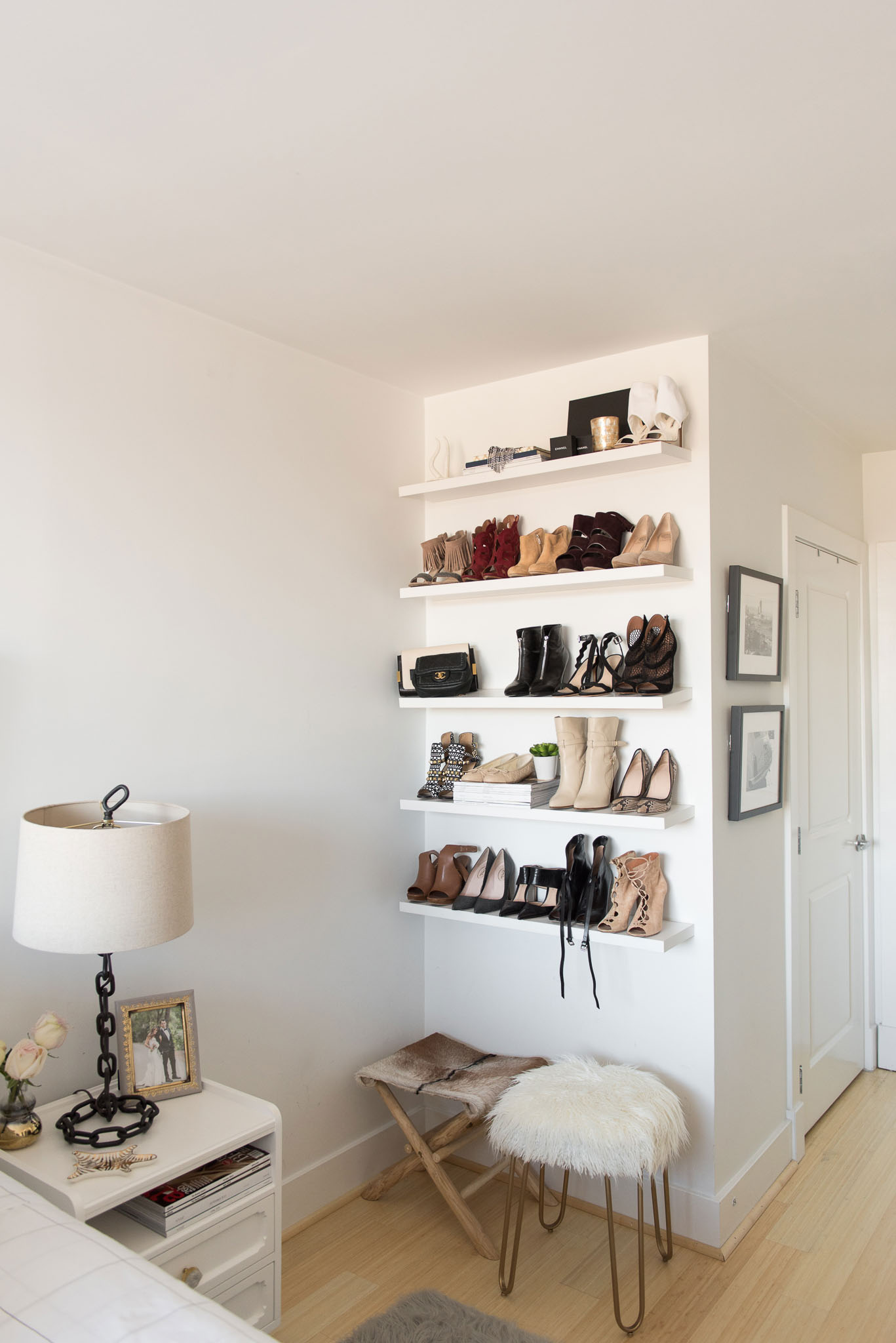 Bedroom Shoe Shelf