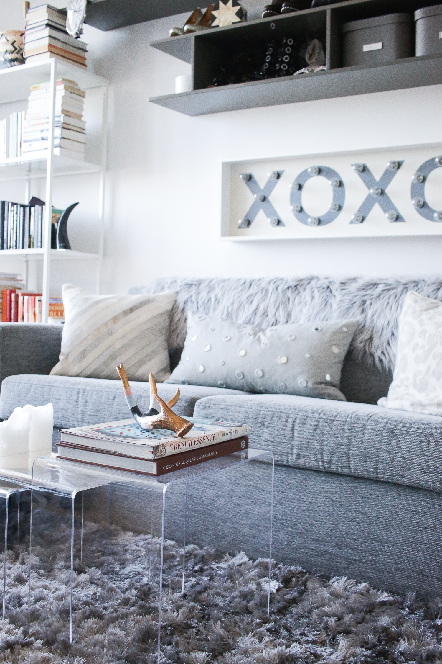 XOXO Light and Grey Couch