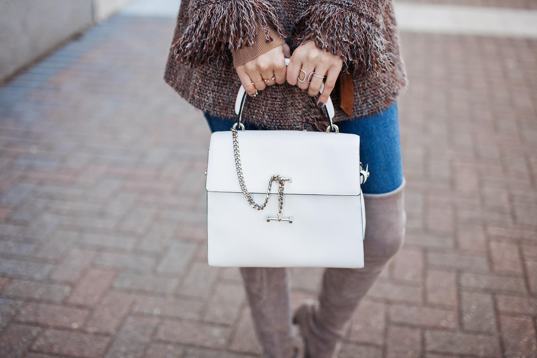 White Luana Handbag