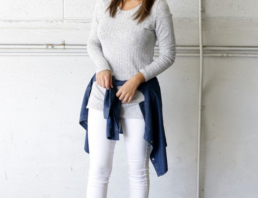 Grey-Ribbed-Top-with-White-Denim