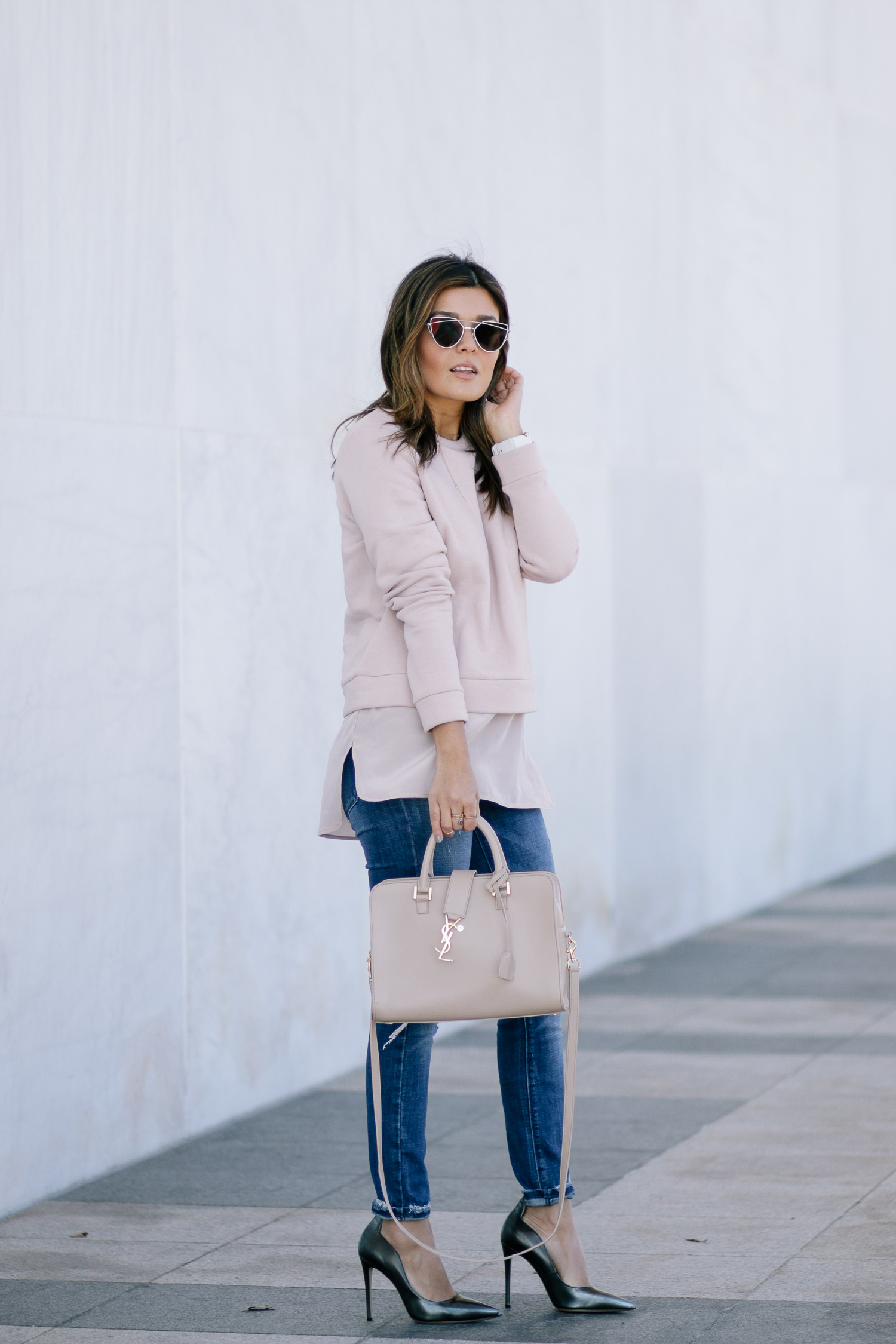 Blush Tones Look
