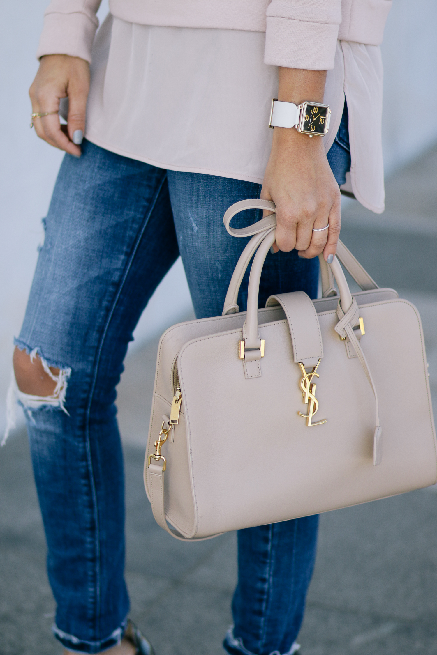 Marc Jacobs Watch and YSL Cabas Tote