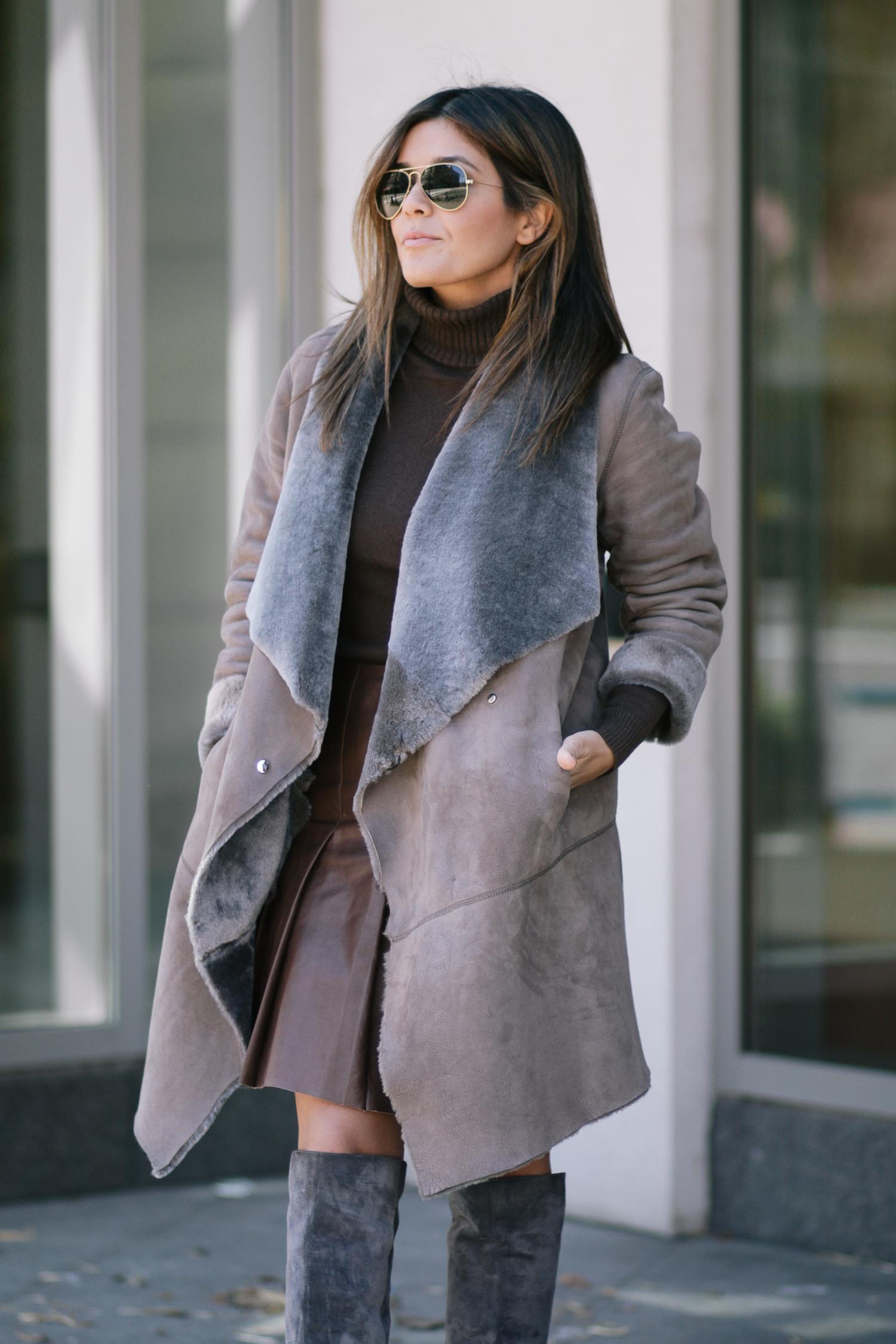 Lafayette Shearling Coat