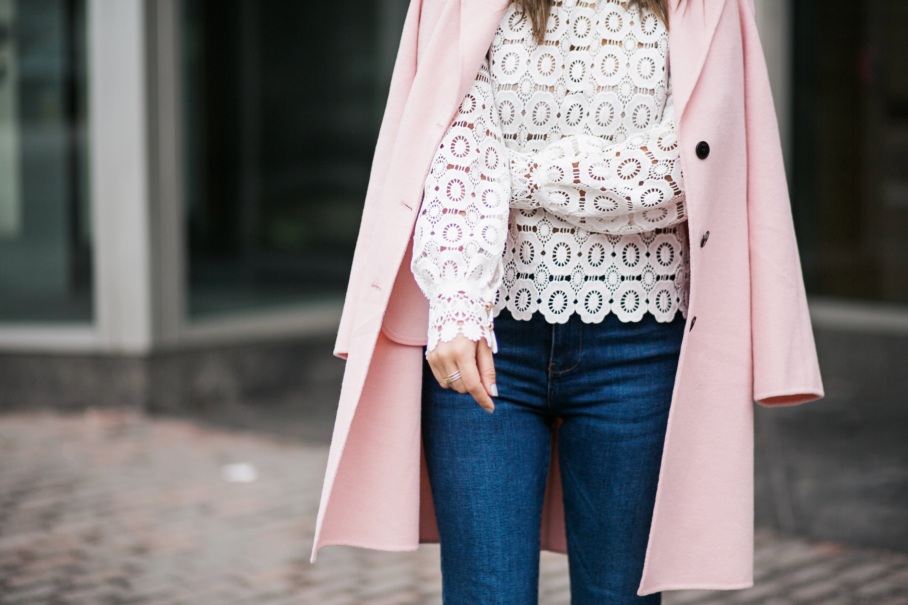 Pink and Lace details