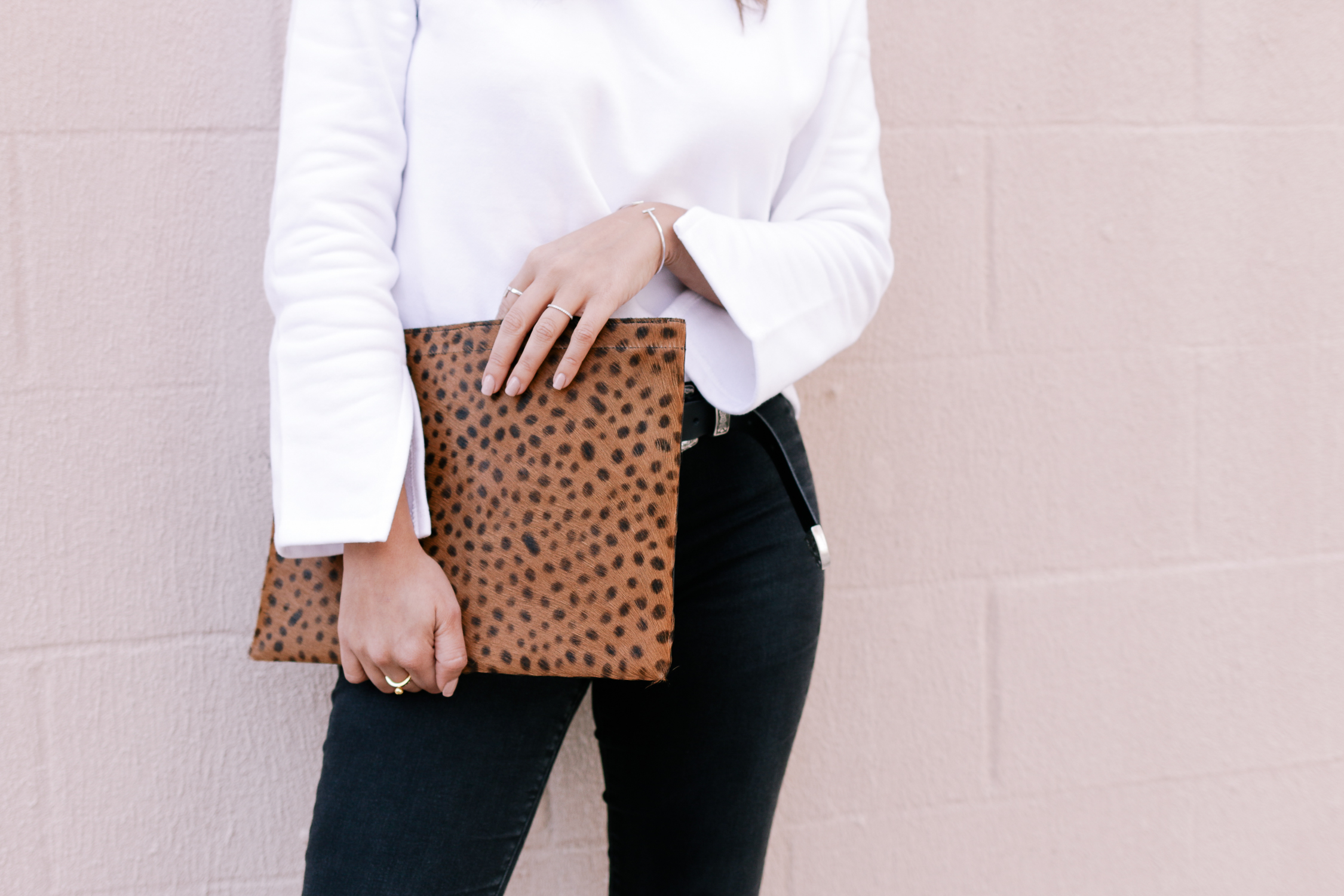 Oversized Leopard Clutch