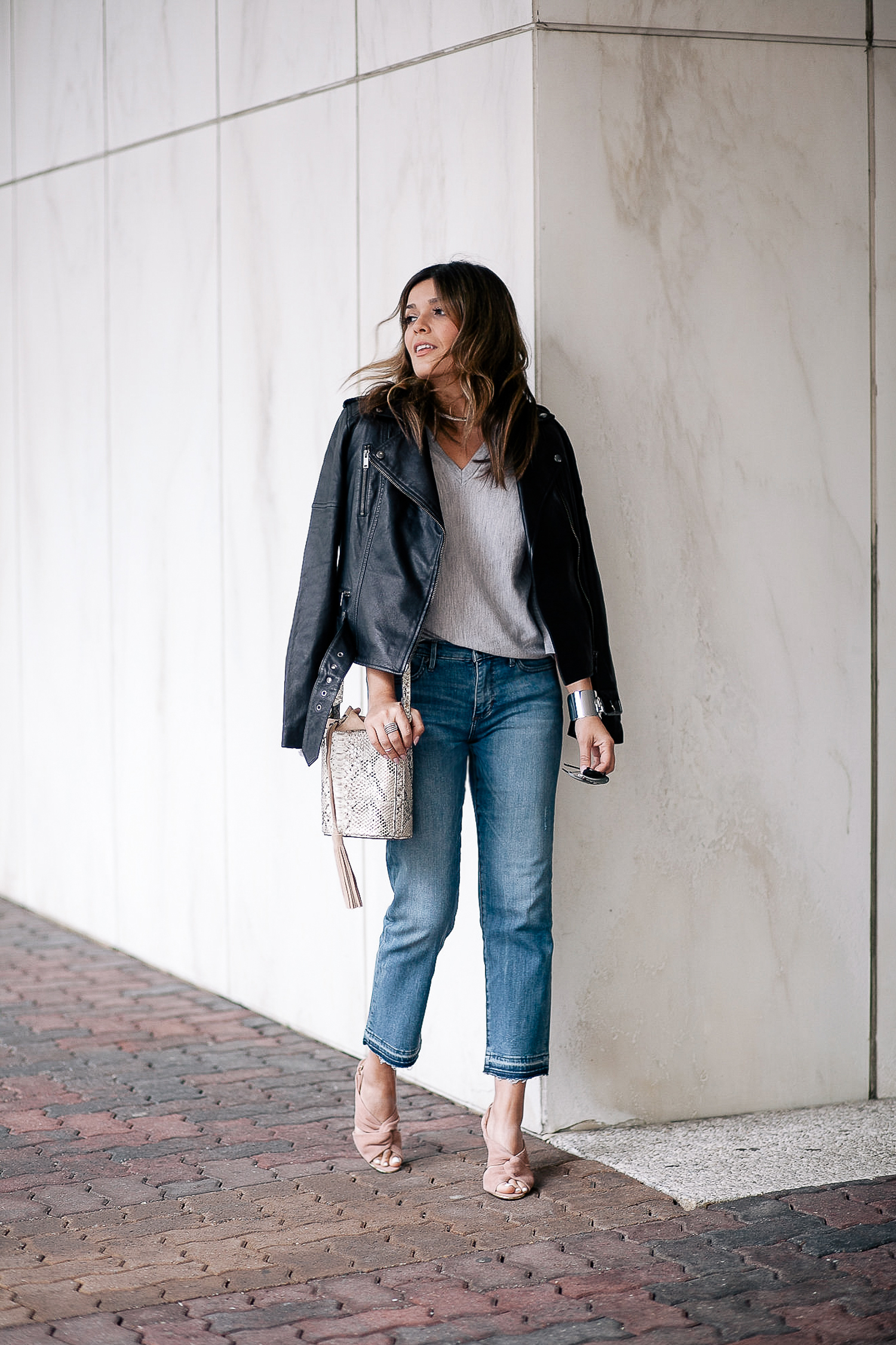 Banana Republic Outfit With Denim and Blush