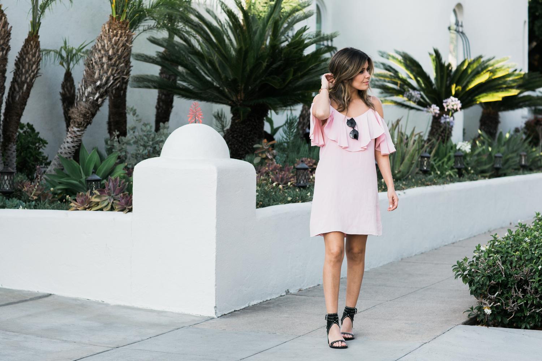 Pink Ruffle Dress by Misa