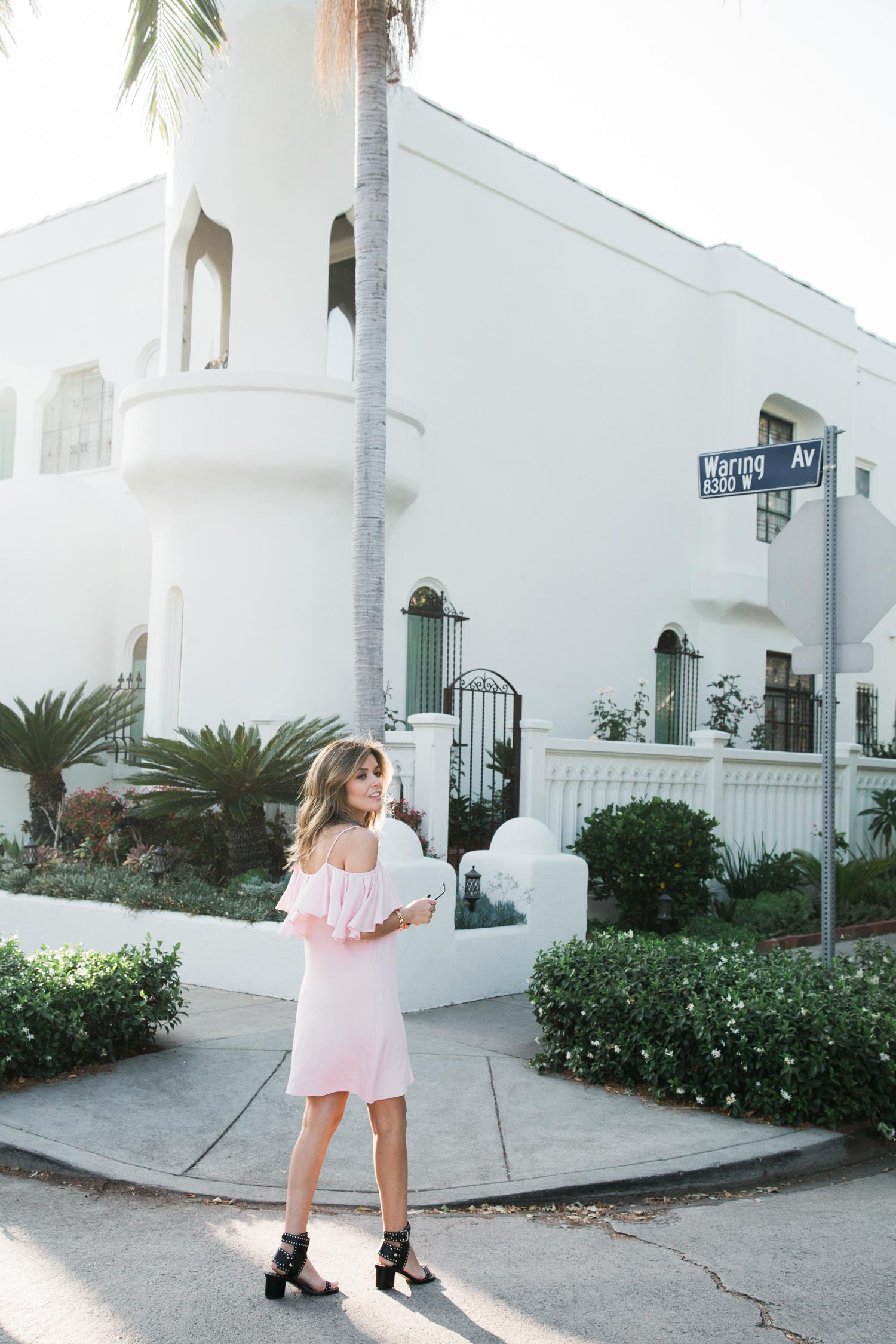 Misa LA pink dress