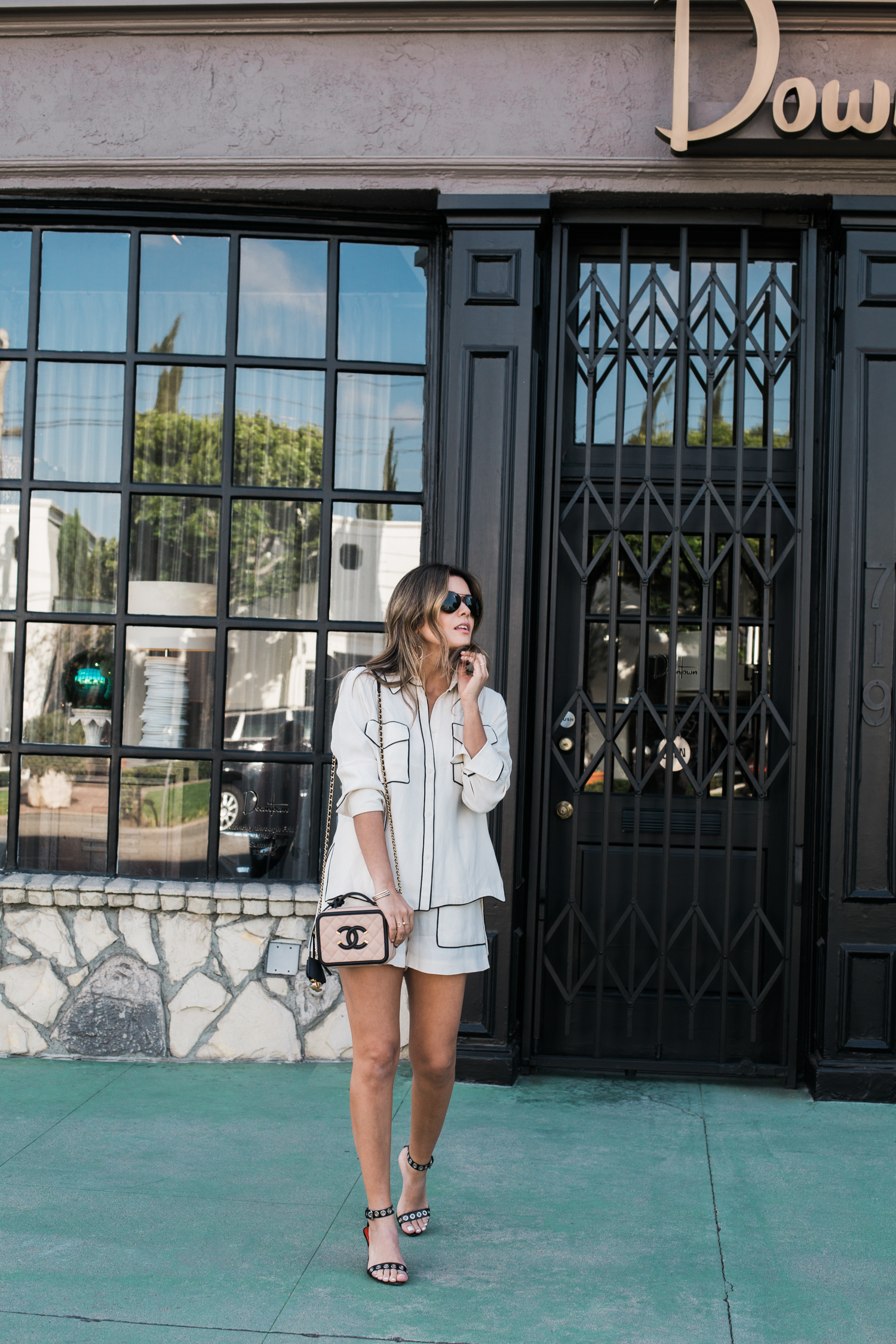 Style MBA Wears C/MEO shorts and top from Nordstrom