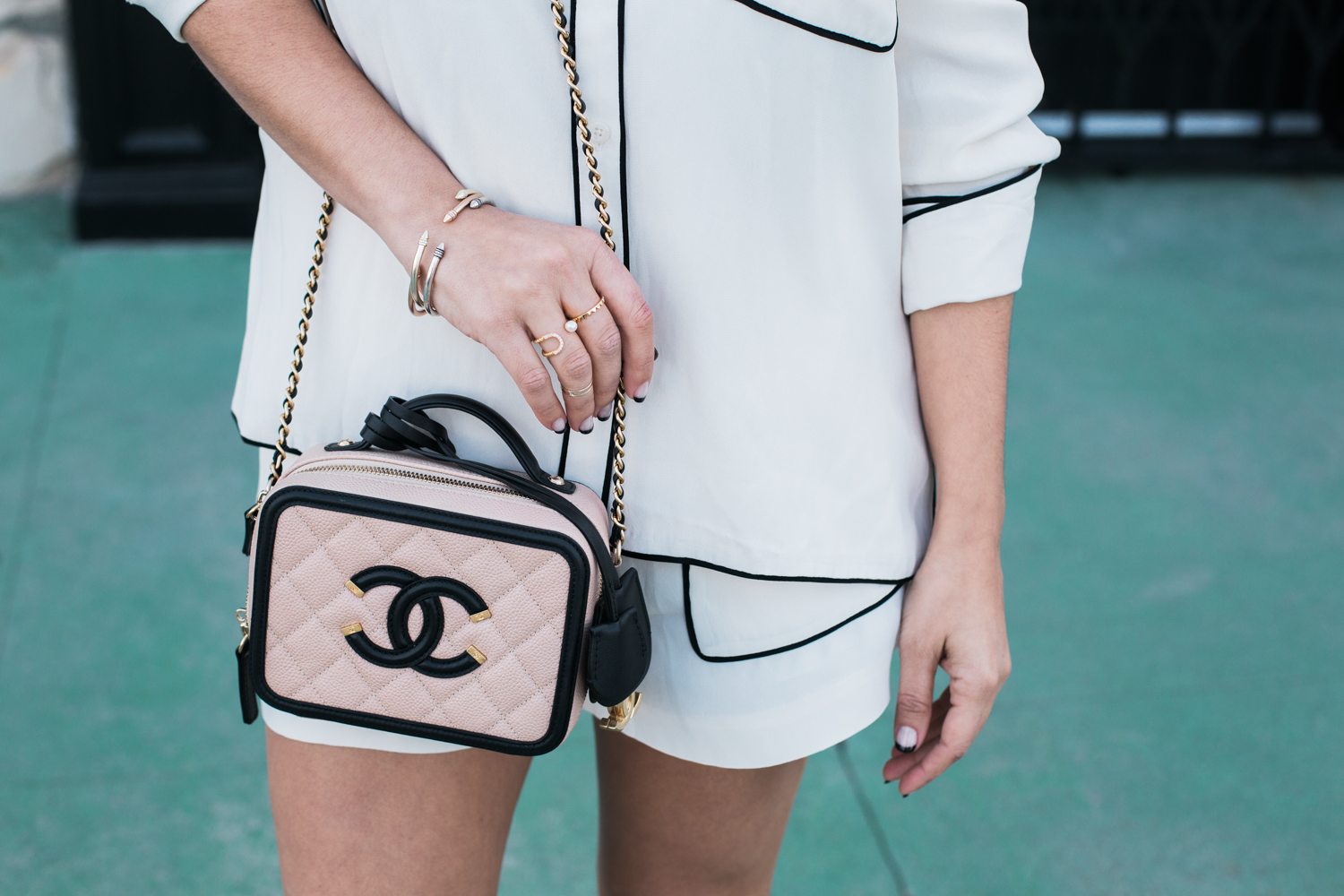Style MBA Wears Chanel Vanity Case Bag