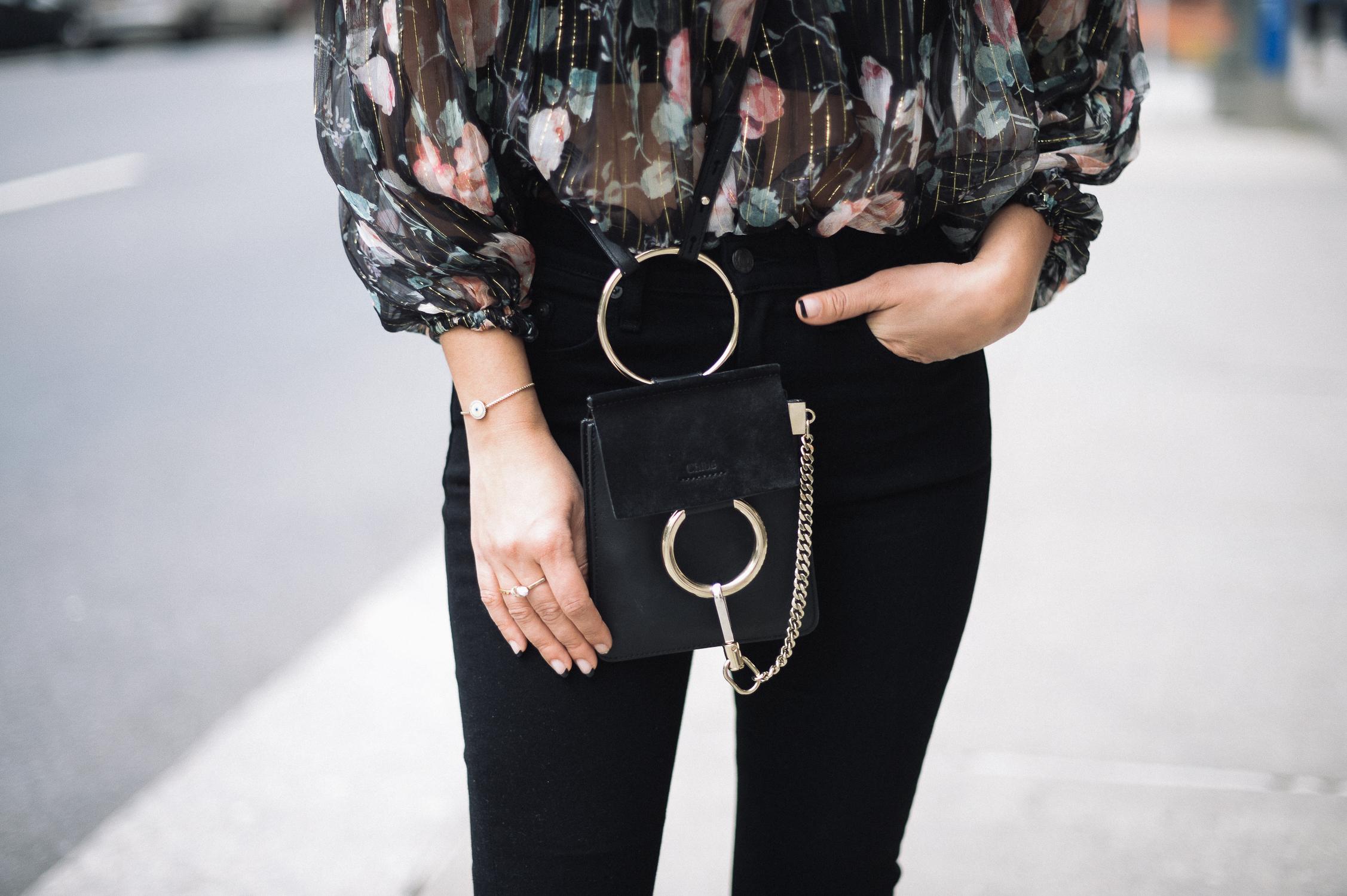 Style MBA wears Chloe Faye Bracelet Bag