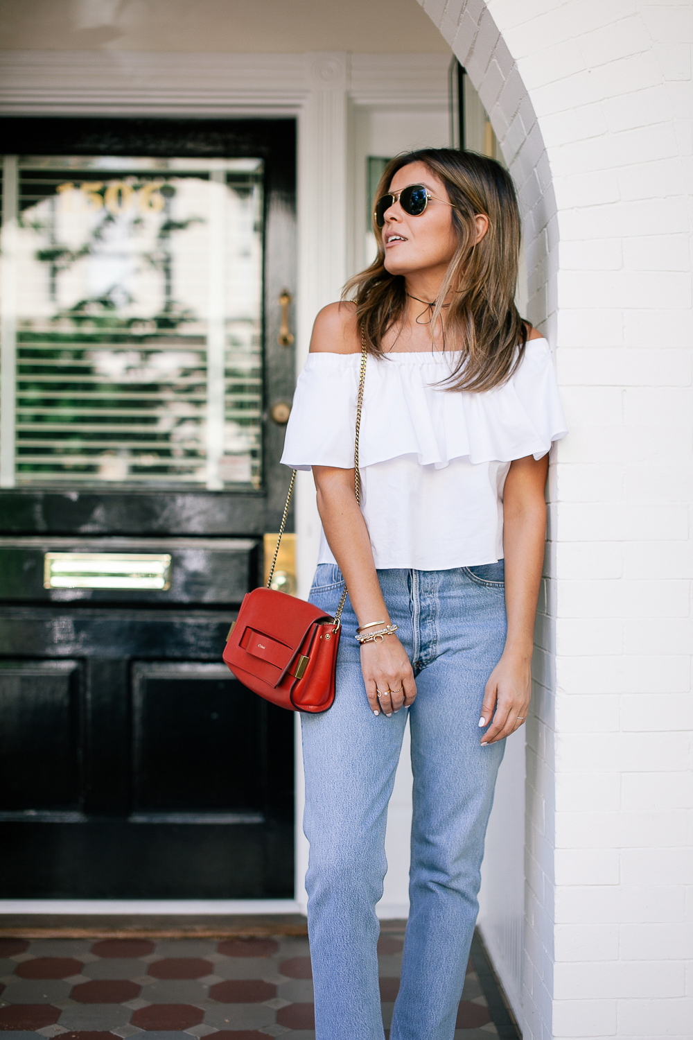 Style MBA wears Ruffle Topshop Top