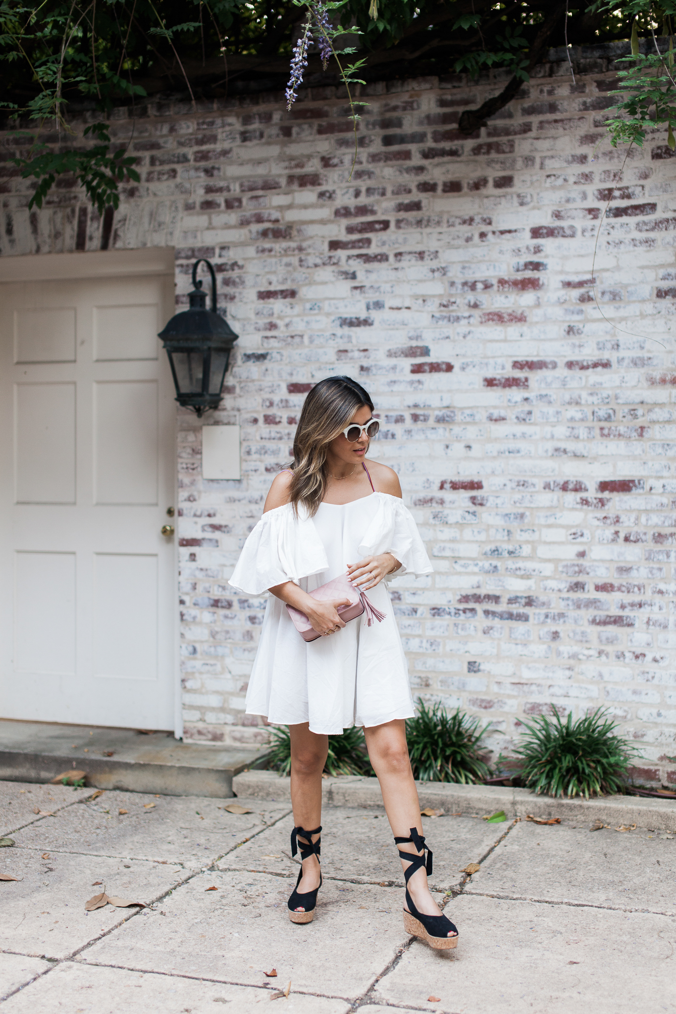 Style MBA Wears Storets Off the Shoulder Dress