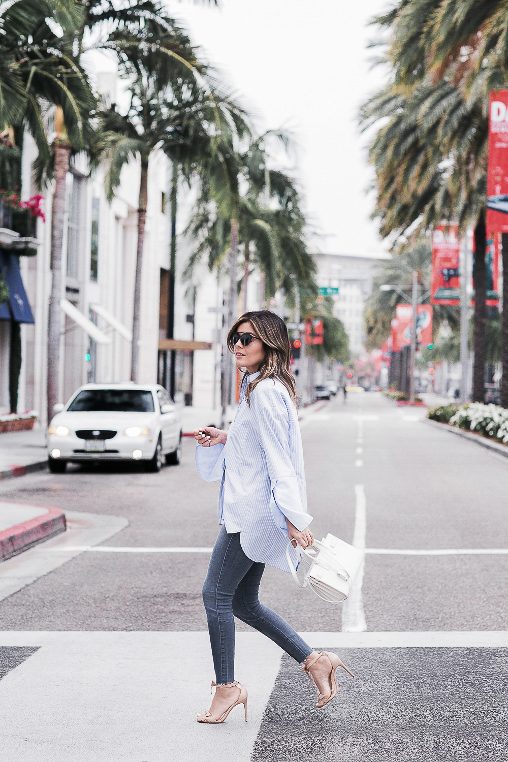 Style MBA wears Zara top and Grey Jeans