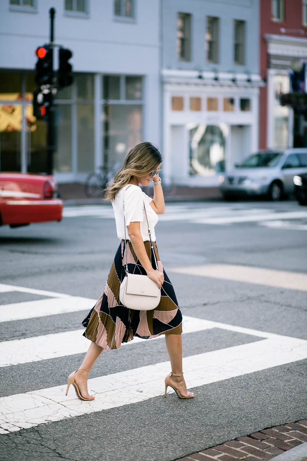 Style MBA Wears Pleated Ann Taylor Skirt