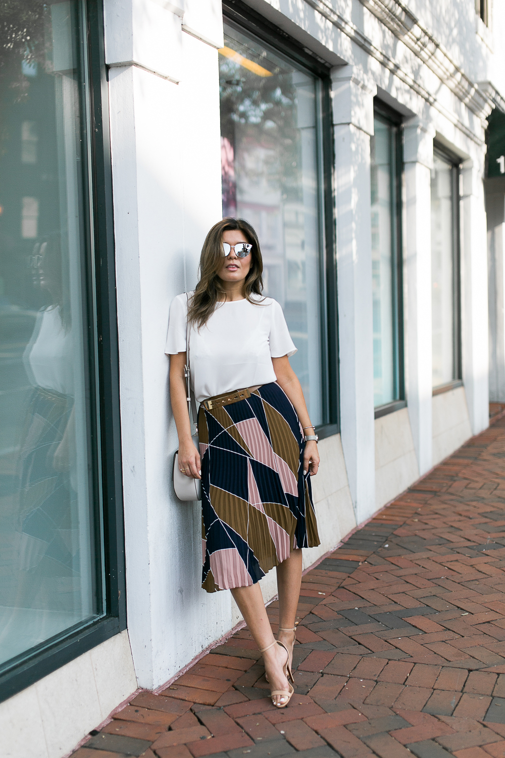 Style MBA wears ann taylor skirt and top