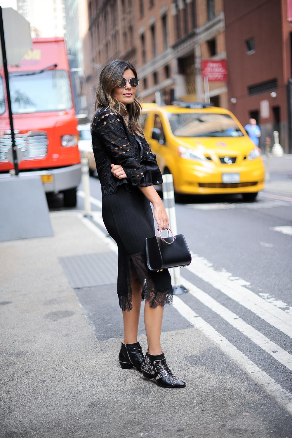 Style MBA Wears Chloe Boots, Sandro Jacket, Future Glory Bag