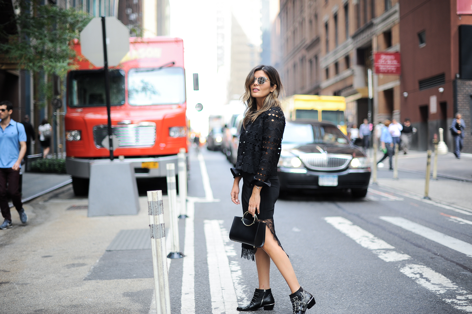 Style MBA Wears Chloe Boots and Sandro Jacket