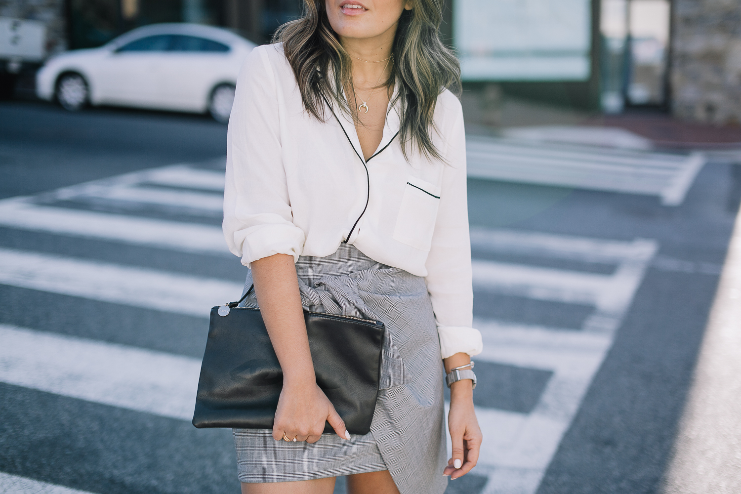 Style MBA wears Clare V Tote at Nordstrom