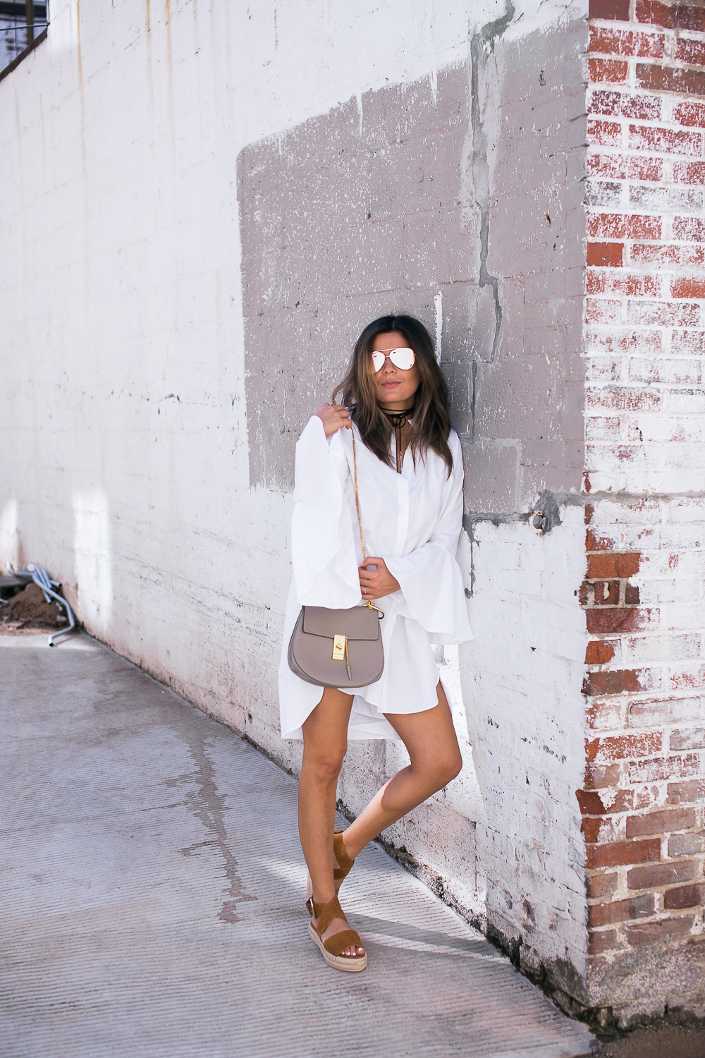 Style MBA wears Storets Shirtdress and Raye Sandals and Chloe Bag