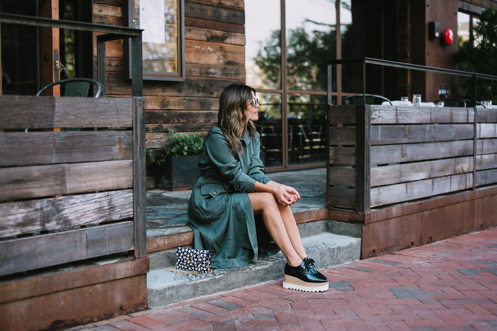 Style MBA wears Asos utility trench dress and stella mccartney oxfords