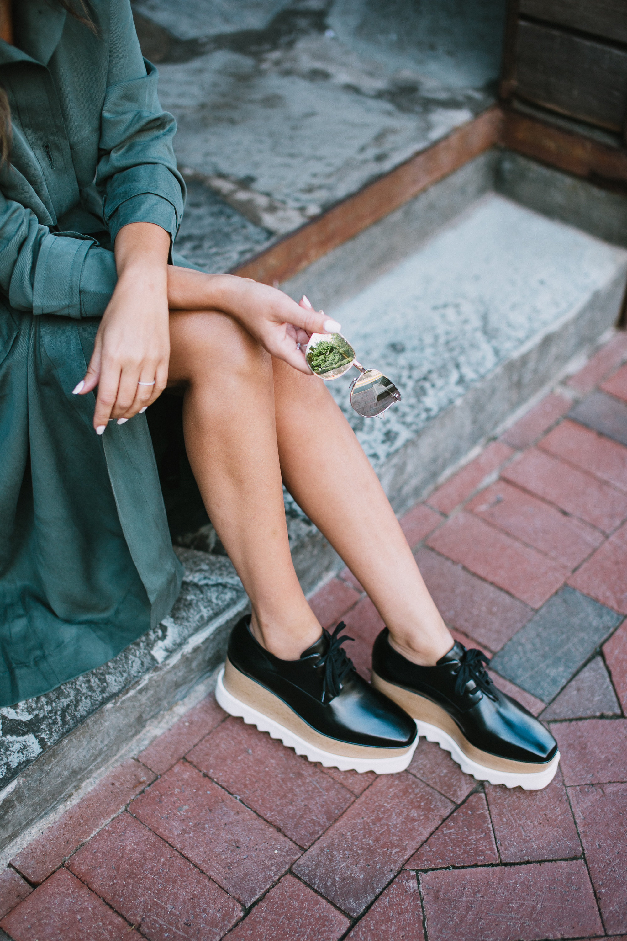 Style MBA Wears Stella McCartney platform oxfords