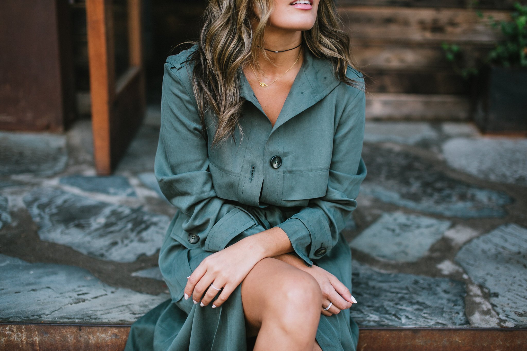 Style MBA wears Asos utility trench dress