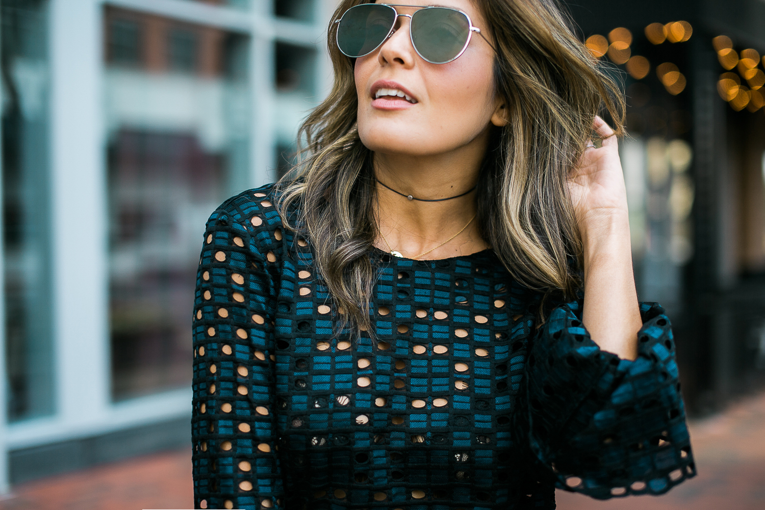 Style MBA wears Ann Taylor Bell Sleeve Top