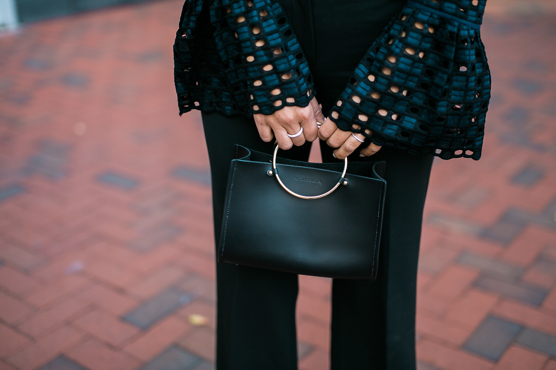 Style MBA wears Future Glory Handbag