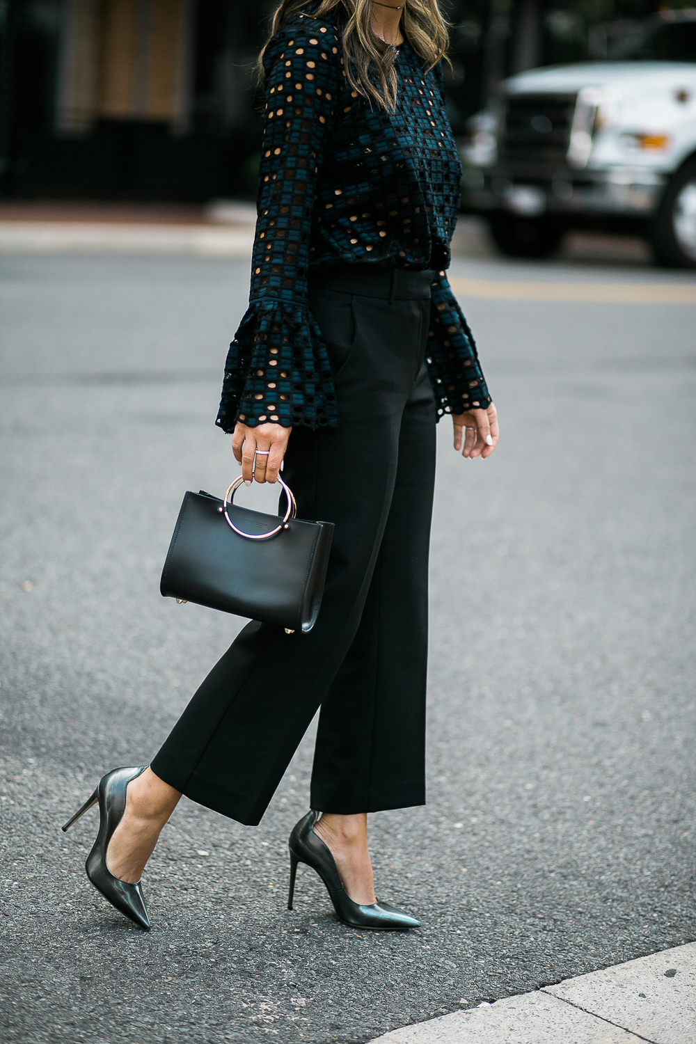 Style MBA wears Ann Taylor Tailored Pants and Top