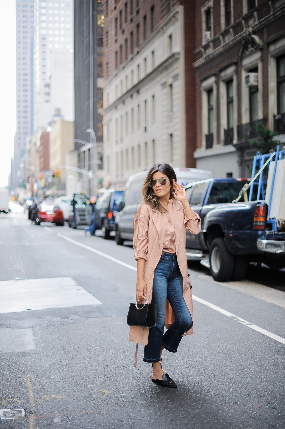 Style MBA wears JOA Trench Vest