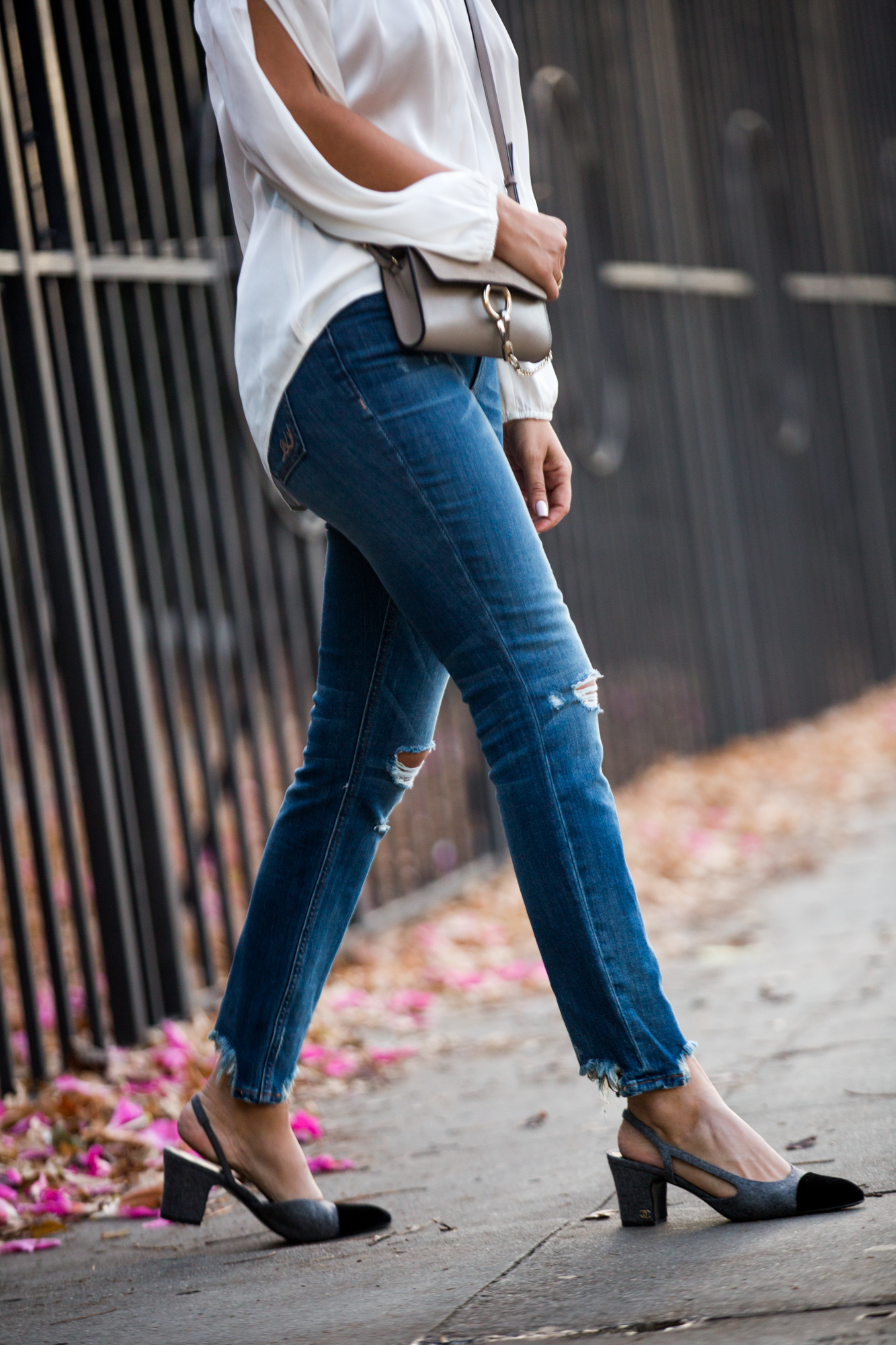 Style MBA wears fall denim by Express