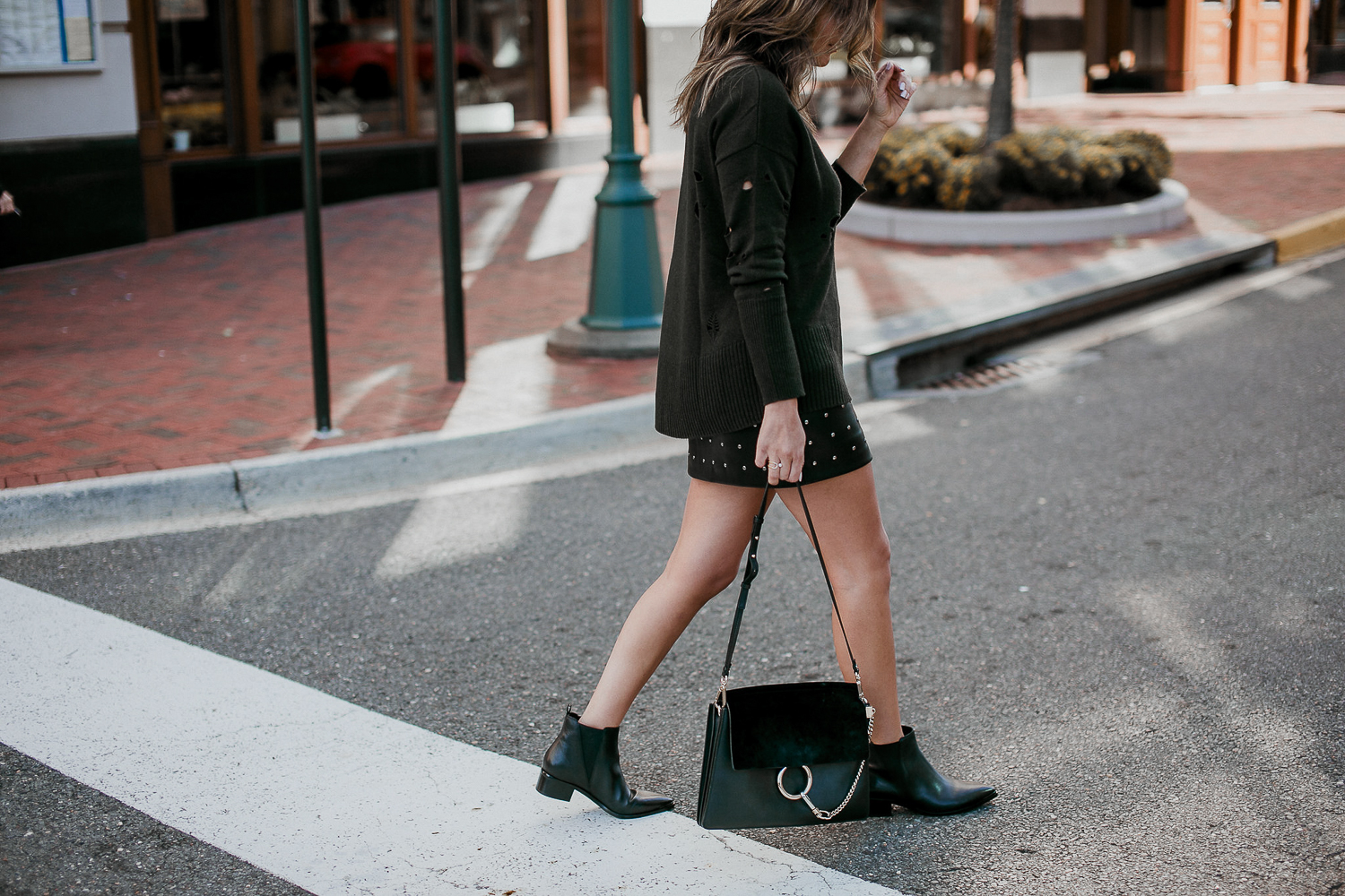 Style MBA Wears Marc Fisher Booties and Chloe bag