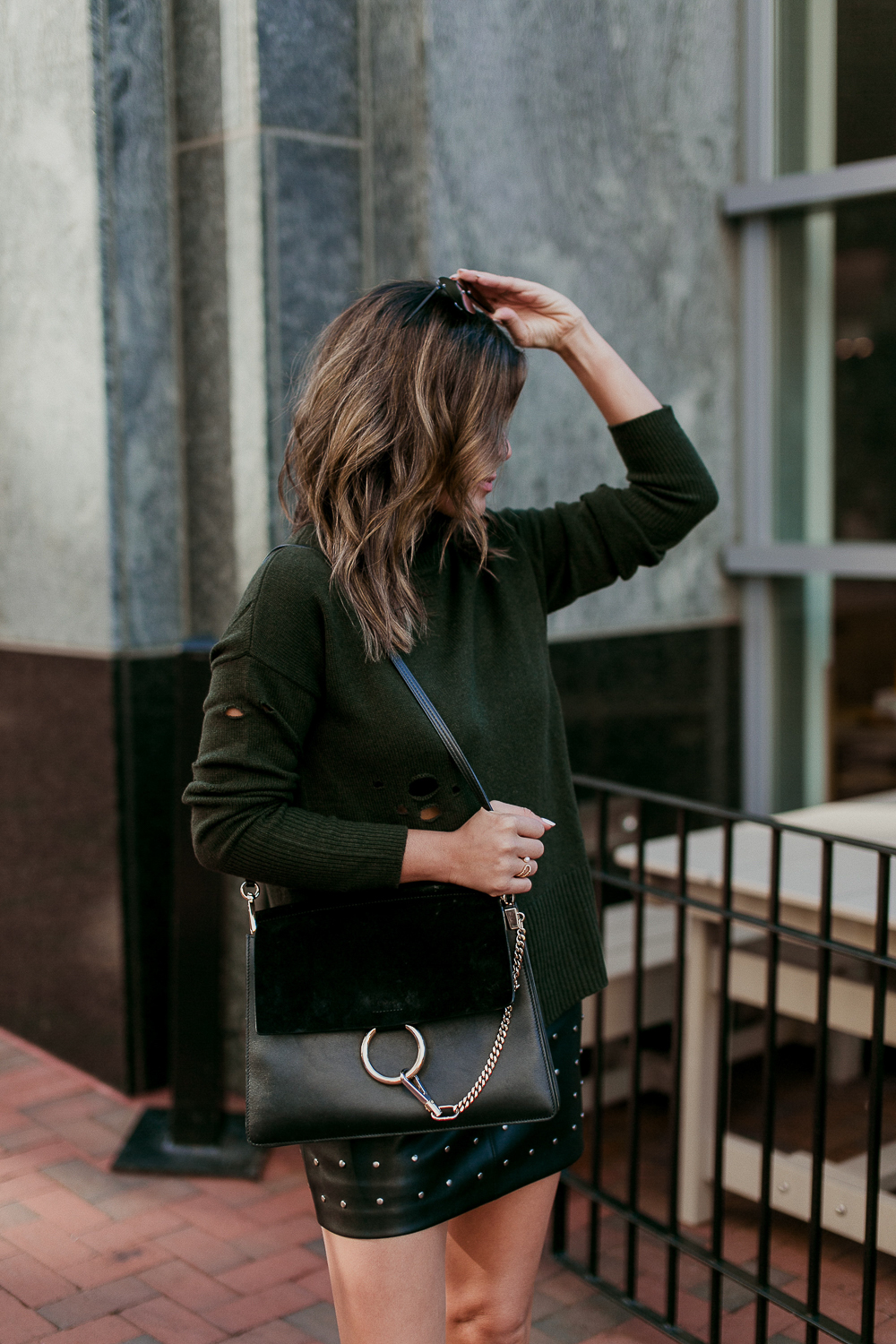 Style MBA wears Autumn Cashmere Sweater from Nordstrom