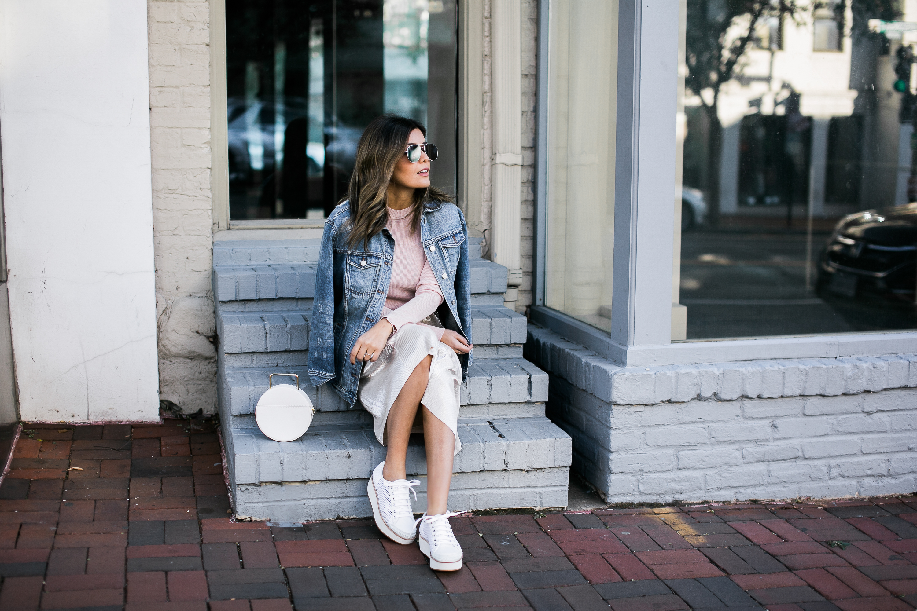 Style MBA wears Who What Wear Collection Skirt and Top