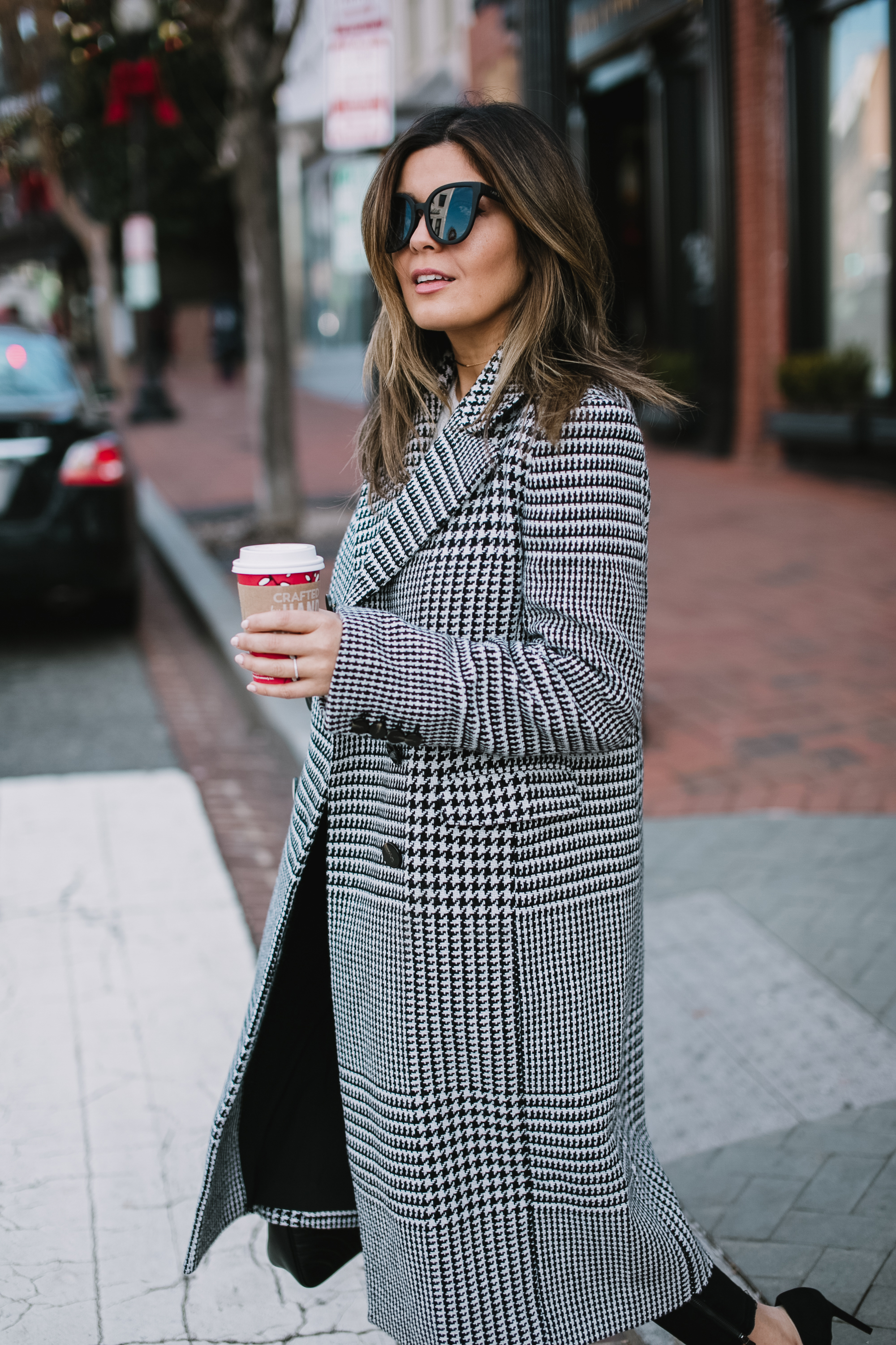 Style MBA Wears Ann Taylor Plaid Coat