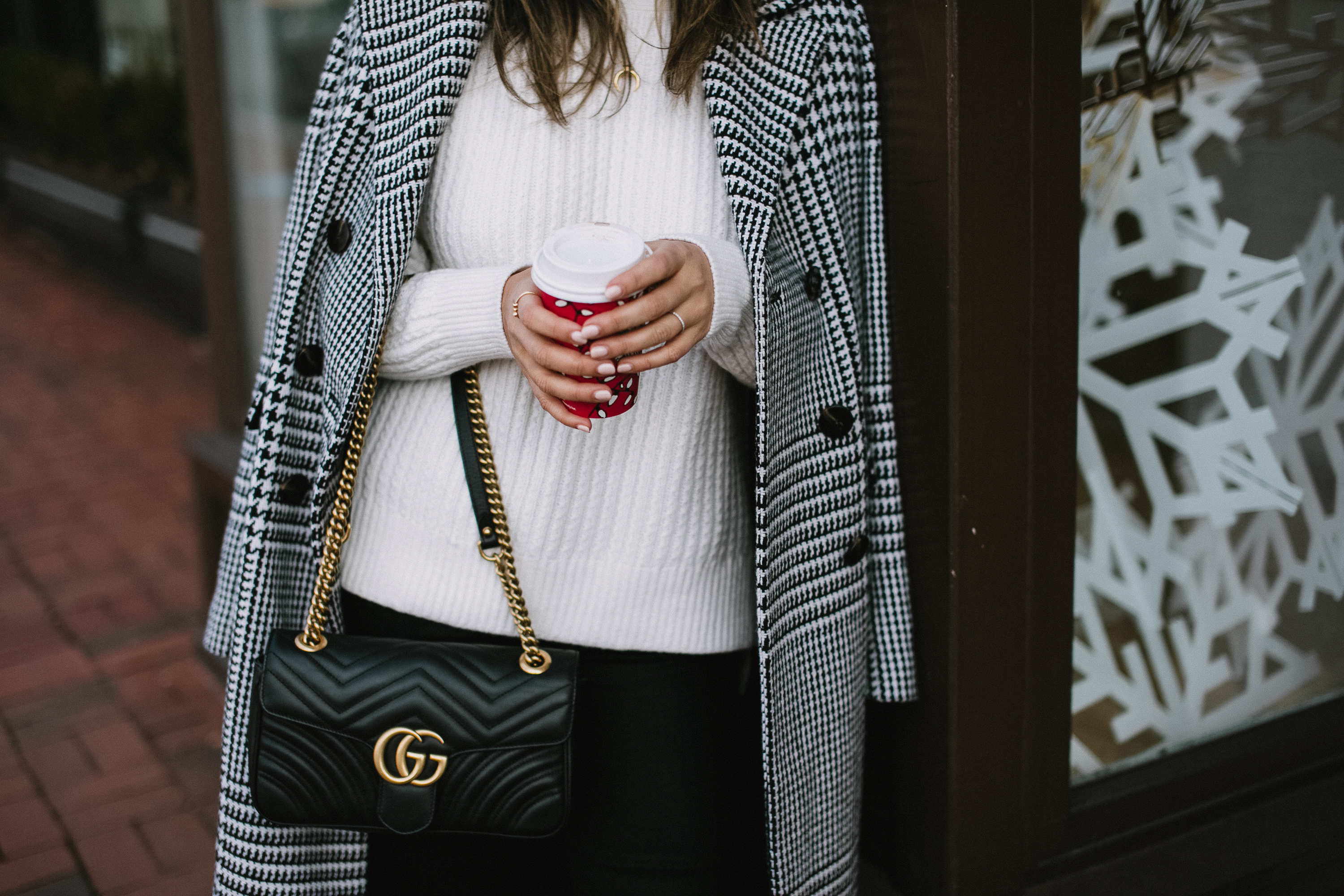 Style MBA Wears Gucci Bag and Ann Taylor Coat